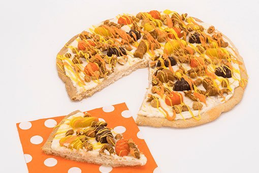 Barch's Recipe Scary Shapes Mellowcremes Halloween Pizza