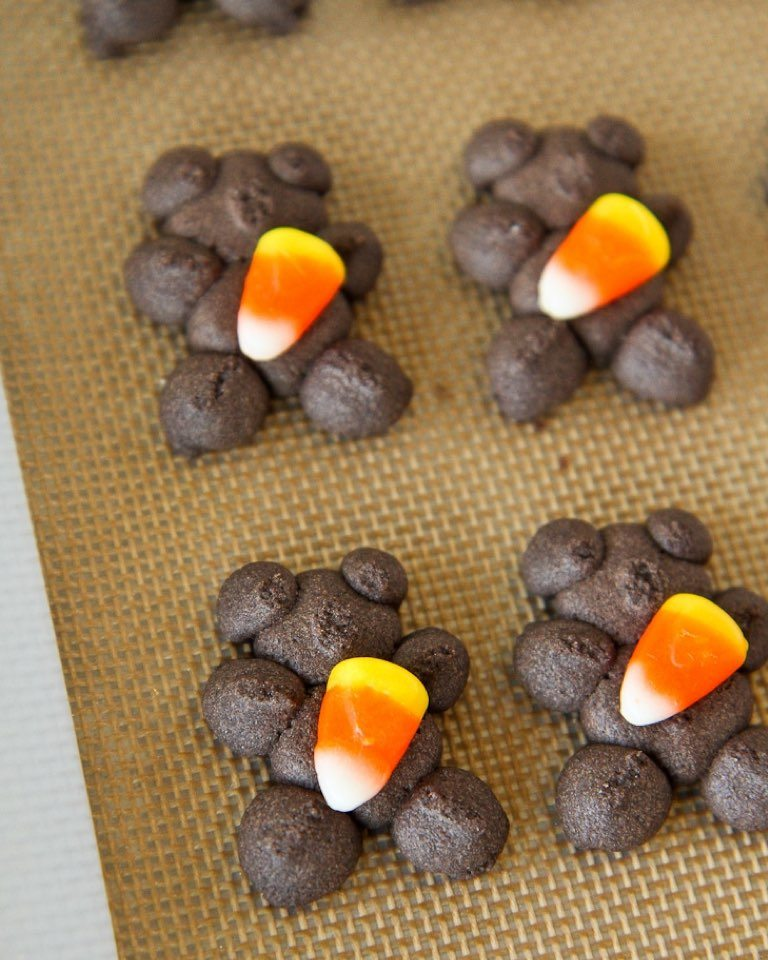 Brach's Candy Corn Chocolate Spritz Cookies Recipe
