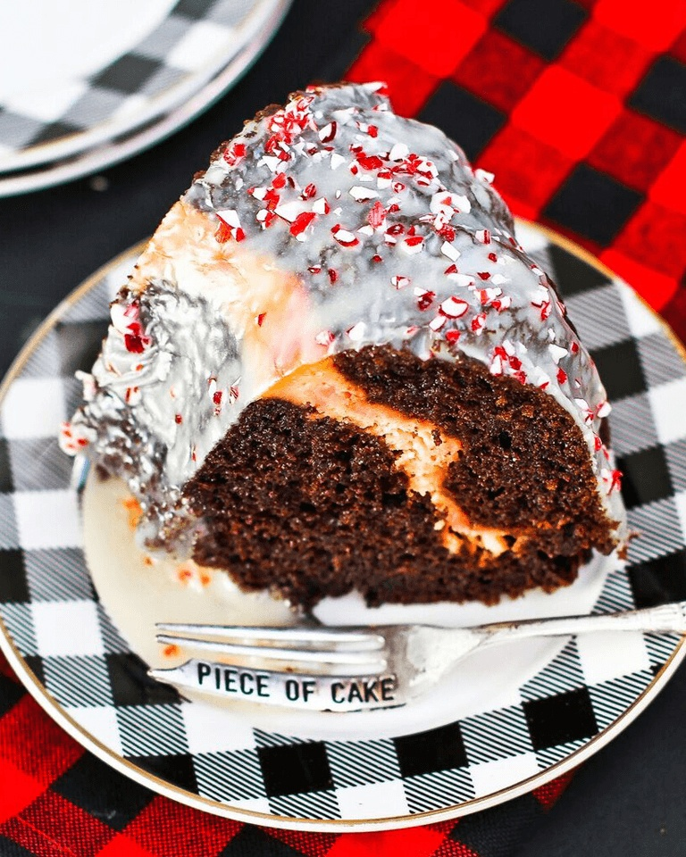 Brach's Frosted Holiday Peppermint Bundt Cake
