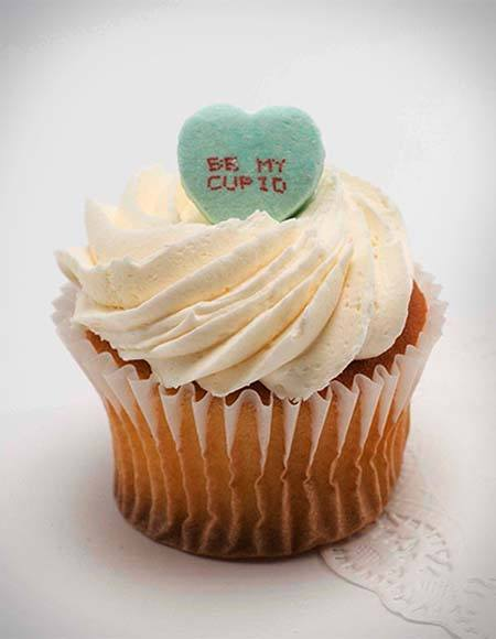 Easy Peasy Conversation Heart Cupcakes