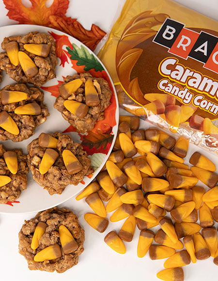 Caramel Candy Corn Apple Oatmeal Cookies