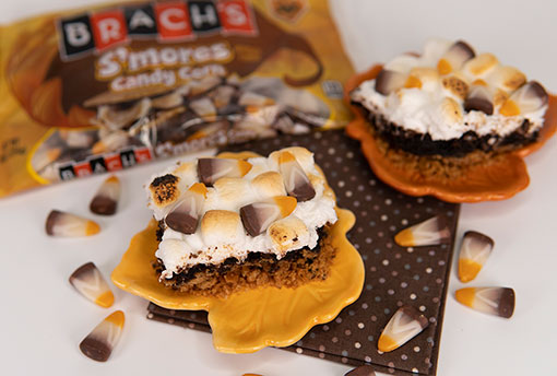 Brach's Recipe S'mores Candy Corn Brownies
