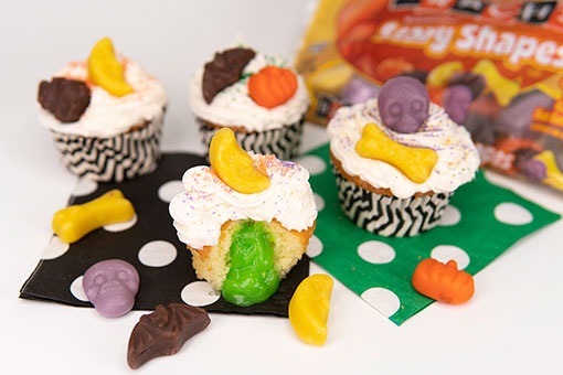 Scary Shapes Cupcakes