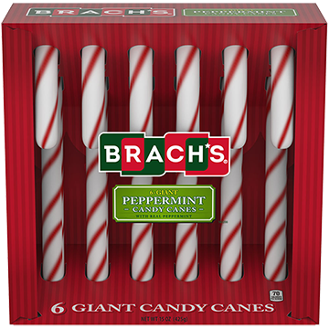 Red & White GIANT Peppermint Canes