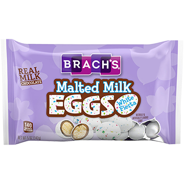 /Brach's White Speckled Fiesta Malted Milk Eggs